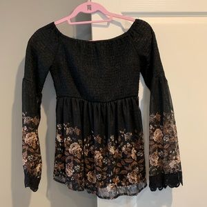 Black off the shoulder blouse from altr'd state